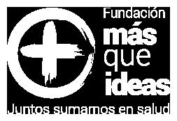 Logotipo en blanco Fundación MÁS QUE IDEAS